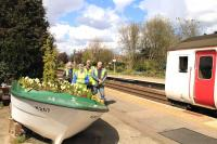 A blooming boat! Cantley station up side, June 2016. <br><br>[Ian Dinmore&nbsp;11/06/2016]