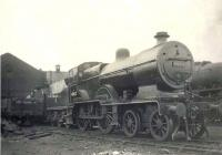 The shed yard at Balornock St Rollox on Saturday 29 April 1950, with Hurlford based class 2P 4-4-0 40612 recently arrived following a visit to the paint shop.<br><br>[G H Robin collection by courtesy of the Mitchell Library, Glasgow&nbsp;29/04/1950]