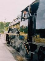 Look back in bemusement: the driver of 48151 checks on, er, something during the Blue Circle cement works Open Day. [See image 58266]<br><br>[Ken Strachan&nbsp;17/09/2005]