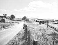 D3888 on the eastern approach to Earlston on 16 July 1965. The working is the last scheduled pickup goods train over the branch, on its way back from Greenlaw to St Boswells.<br><br>[Bruce McCartney&nbsp;16/07/1965]