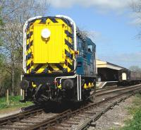 BR Class 09 D3668 working passenger trains on the Swindon and Cricklade Railway on 22 April 2017.<br><br>[Peter Todd&nbsp;22/04/2017]