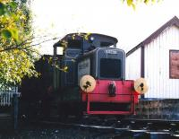The former Longmorn distillery Ruston & Hornsby 0-4-0DM shunter <I>Queen Anne</I> [works no 265618/1948] in the SRS shed yard at Aviemore in September 2004 [see image 53716].<br><br>[John Furnevel&nbsp;19/09/2004]
