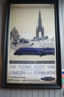 An early British Railways poster advertising The Flying Scotsman service. This framed example was found on a wall in The Booking Office outside Waverley Station on 19 April 2017.<br><br>[John McIntyre&nbsp;19/04/2017]