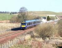 The 0845 (Sunday) Tweedbank - Edinburgh ScotRail service about to run through the site of Heriot station on 2 April 2017 heading for its next stop at Gorebridge. <br><br>[John Furnevel&nbsp;02/04/2017]