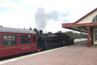 Ivatt 2MT 2-6-0 46512 alongside the Strathsey platform at Aviemore station on 26 April 2017 with a train of empty stock.<br><br>[Andy Furnevel&nbsp;26/04/2017]