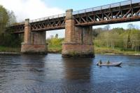 This is the bridge which carried the line from Stanley Junction to Coupar Angus. It spans the River Tay just west of Cargill. Pedestrian Access is denied and a £25 trespass fine applies!<br><br>[Ian Millar 25/04/2017]