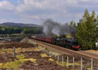 Black 5 No.45212 and K1 No.62005 haul the Glasgow bound * Great Britain<br> X * away from Dalwhinnie.<br><br>[John Gray&nbsp;03/05/2017]