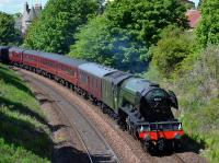 60103 speeds away from Aberdour with the Cathedrals Express Fife Circle trip.<br><br>[Bill Roberton 14/05/2017]