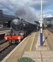 Flying Scotsman passing through Haymarket at 1735 on 'The Cathedrals Express'.<br><br>[John Yellowlees&nbsp;14/05/2017]