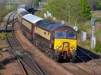 57305 leads the Northern Belle past Inverkeithing East Junction on its return from Dundee to Darlington on 6 May.  57306 is on the rear.<br><br>[Bill Roberton&nbsp;06/05/2017]