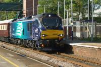DRS 88002 heads south at Leyland with the 1Z89 Class 88 launch special charter returning to London on 09 May 2017.<br><br>[John McIntyre&nbsp;09/05/2017]