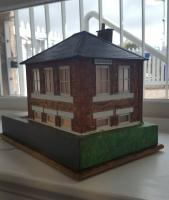 A model of Aberdour signal box on display on the occasion of the box opening.<br><br>[John Yellowlees&nbsp;27/04/2017]