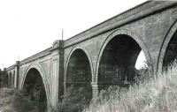 View of Ballochmyle Viaduct from the south west in the summer of 1961. [See image 7160]<br><br>[G H Robin collection by courtesy of the Mitchell Library, Glasgow&nbsp;04/08/1961]