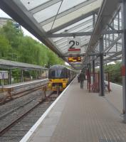 Despite being hugely reduced in size, Bradford Forster Square is still a large three platform station. This view looks north.<br><br>[John Yellowlees&nbsp;06/05/2017]