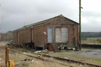One of the goods sheds at Stranraer. Views look east from Town terminus.<br><br>[Colin Miller&nbsp;27/03/2006]