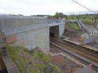 The new Station Road seen overbridge in May 2017. It is due for completion in mid August 2017.<br><br>[Colin McDonald&nbsp;21/05/2017]