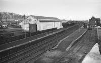 Looking east over Dunfermline Upper Station in December 1973, looking largely intact.<br><br>[Bill Roberton&nbsp;/12/1973]