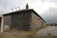 The main goods shed at Stranraer. Views look east from Town terminus. For a while this was the tamper shed.<br><br>[Colin Miller&nbsp;27/03/2006]