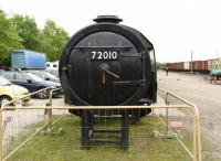 On display at the Great Central Railway gala on 6 May 2017 were the smokebox and cab of the new build <I>Clan</I> project. Bearing the number 72010, which would have been next in the Clan series if the order hadn't been cancelled, these initial parts of the locomotive, which will carry the name <I>Hengist</I>, are seen here in the yard at Quorn & Woodhouse. [See image 29914]<br><br>[Peter Todd&nbsp;06/05/2017]