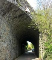 The south end of the footpath across Tavistock viaduct passes over this skew bridge after passing Tavistock South station; which is now split into holiday cottages.<br><br>[Ken Strachan&nbsp;16/04/2017]