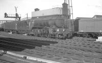 Gresley V2 2-6-2 60924 passing Newcastle Central on the goods lines around 1960.<br><br>[K A Gray&nbsp;//1960]
