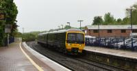 GWR's 166217 bound for Bedwyn at Hungerford on 17th May 2017.<br><br>[Peter Todd&nbsp;17/05/2017]