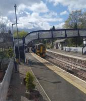 View of Aberdour station from the former signal box.<br><br>[John Yellowlees 25/04/2017]