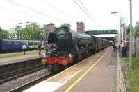60103 <I>Flying Scotsman</I> heads south through Leyland on 16 May 2017 while working the Edinburgh to Crewe (via the S&C) leg of the fourth day on the 'Cathedrals Express' railtour.<br><br>[John McIntyre&nbsp;16/05/2017]