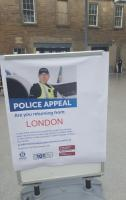 A Police Appeal notice at Haymarket station, following recent events in London.<br><br>[John Yellowlees&nbsp;05/06/2017]