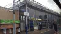 Partick station's new building and platform recycling centre.<br><br>[Beth Crawford&nbsp;22/05/2017]