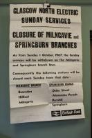 Amidst great relief, the Milngavie line (and Springburn branch) finally gained a Sunday service in the late 1980s. But it was not always so - it had previously had a Sunday service. This was withdrawn on Sundays from the 1st of October 1967.<br><br>[Ian Dinmore&nbsp;01/10/1967]