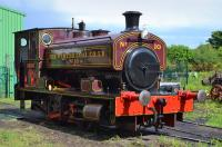 Andrew Barclay 1890 of 1926 masquerading as Wemyss Coal Co No.10 (actually delivered to Edinburgh & Leith Gas Commissioners, Granton Gasworks) looks superb at the Fife Heritage Railway, Kirkland Yard, on 3 June.<br><br>[Bill Roberton&nbsp;03/06/2017]