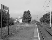 Balloch Pier station, looking towards the buffer stops, taken shortly before closure in 1986<br> <br><br>[Bill Roberton&nbsp;//1986]
