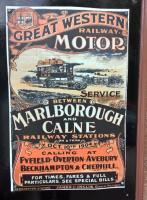 Integrated transport is nothing new - witness this advertisement for a 1904 GWR bus service linking two Western branch termini, on show at the West Somerset Railway museum at Bishops Lydeard.<br><br>[Ken Strachan&nbsp;13/05/2017]