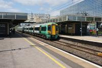 A Southern service to East Croydon waits to start its journey at Milton Keynes Central on 16 June 2017.<br><br>[John McIntyre&nbsp;16/06/2017]