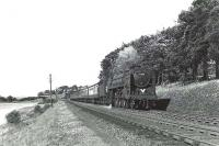 BR light Pacific 72009 <I>Clan Stewart</I> near Beith in July 1959 with a St Enoch - Stranraer express.  <br><br>[G H Robin collection by courtesy of the Mitchell Library, Glasgow&nbsp;14/07/1959]