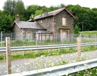 The former station house at Fountainhall, sadly falling into a state of disrepair. View west across the Borders Railway on 16 June 2017, with the Network Rail compound and access point located on this side of the line. [See image 6220]<br><br>[John Furnevel&nbsp;16/06/2017]
