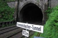 One of the 38 tunnels on the central section of the Schwarzwaldbahn,<br> seen on 1st June from a purpose-built viewpoint on the 6.5km Erlebnispfad<br> (discovery path) which follows the dramatic alignment of the railway around<br> the town of Triberg (also a major centre for clock manufacturing and the<br> site of Germany's highest waterfall).<br> <br><br>[David Spaven&nbsp;01/06/2017]