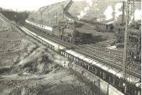 Thornton Junction's D49 4-4-0 no 62704 <I>Stirlingshire</I> approaching Cowlairs East Junction on 6 September 1955 with a train from Fife.<br><br>[G H Robin collection by courtesy of the Mitchell Library, Glasgow 06/09/1955]
