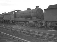 Robinson O4 2-8-0 63717 on shed at Langwith Junction in 1961.  <br><br>[K A Gray&nbsp;//1961]