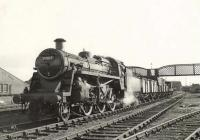 Standard Mogul 77017 with a freight at Crossmyloof in the summer of 1957. [Ref query 1038]