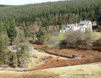 Victoria Lodge terminus and yard in November 2004 showing the platform amongst the trees and the stairway leading up the hillside to the Lodge itself -  which must have been cursed by many a trustee arriving for a board meeting.... bless them. <br><br>[John Furnevel&nbsp;13/11/2004]