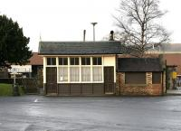 The old goods/weighbridge office in the former goods yard at Peebles in January 2005.<br><br>[John Furnevel&nbsp;20/01/2005]