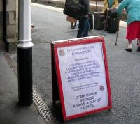 Welcome to the Station Bookshop - Pitlochry, July 2012. [See adjacent news item] <br><br>[John Yellowlees&nbsp;/07/2012]