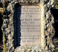 Sadly, not all made it to the Crook Inn on those infamous Friday nights in the early 1900s. The Talla Memorial stone, stands near the main gate of Tweedsmuir churchyard. The inscription reads: <I>'To the memory of the men who died during the progress of the Talla water works 1805-1905 of whom over 30 are interred in this churchyard. Erected by their fellow-workmen and others.'</I> [See image 6067]<br><br>[John Furnevel&nbsp;30/11/2005]