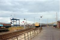 A DMU leaves Ardrossan Winton Pier (then known as Ardrossan Harbour). The station has closed and its replacement is to the left of the track.<br><br>[Andy Kirkham&nbsp;//]