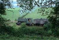 No 17 works hard taking a loaded coal train to the Bedlay exchange sidings.<br><br>[Andy Kirkham&nbsp;//]