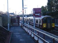 1337 Larkhall-Dalmuir about to depart.<br><br>[Andy Kirkham&nbsp;12/12/2005]