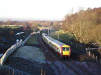 1331 Dalmuir-Larkhall approaching Chatelherault.<br><br>[Andy Kirkham&nbsp;12/12/2005]