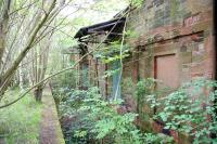 The former bay platform and west wall of the old locomotive shed at St Boswells, gradually returning to nature in November 2007.<br><br>[John Furnevel&nbsp;09/11/2007]